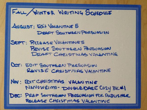 Jenna Harte Fall 2015 Writing Schedule